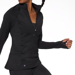 Athleta black quarter zip